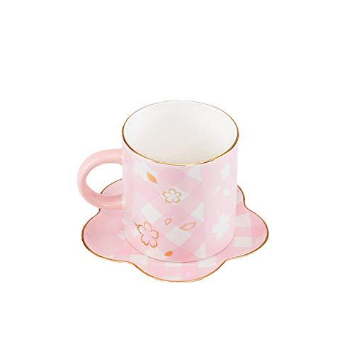 355 ml a la parrilla modelo de flor de cerezo grupo de tazas conjunto de tazas para el hogar minimalista sin tapa taza de café