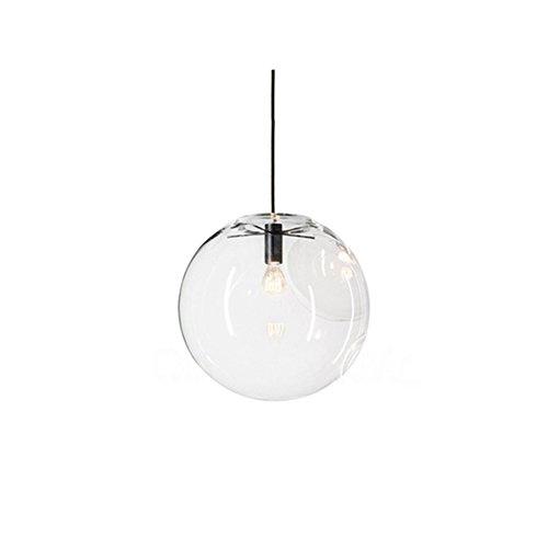 mzstech - Bola förmiges clásico cristal de hängendes brillante creativo einzelnes brillante Principal de lámpara de cristal tono (30cm)