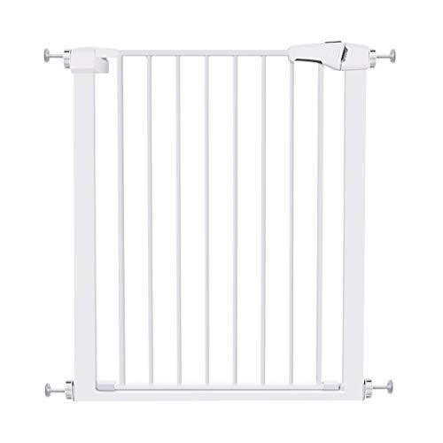 Barrière de sécurité Porte ajustée pour bébé - Portes en métal Blanches pour Animaux de Compagnie avec Porte, Porte d'isolation d'escalier de Couloir intérieur, Largeur 63-172cm