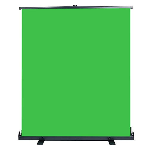 Professionelle Green Screen Hintergrund mit Selbst Ständer Unterstützung, Extra Large 150cm x 200cm Auto-Locking Pull-Up Portable Bild und Video-Streaming-Chroma-Key-Hintergrund