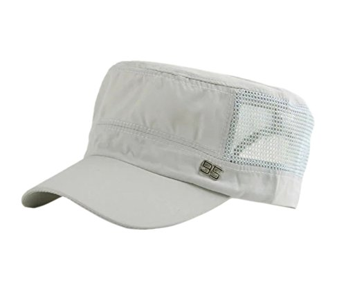 Elonglin Unisex Baseball Hut Sonnenschutz Mützen Sommer Kappe Hell Grau