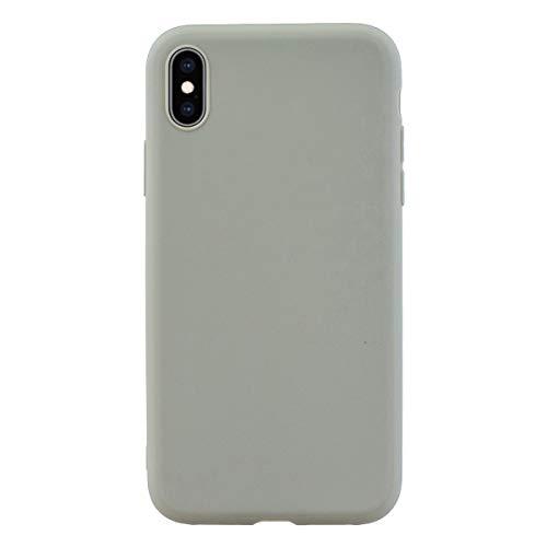 ZDCASE iPhone XS MAX Funda, A Prueba de choques TPU Suave Ultra Delgado Ligero Flexible Caucho Protectora Funda para iPhone XS MAX - Gris