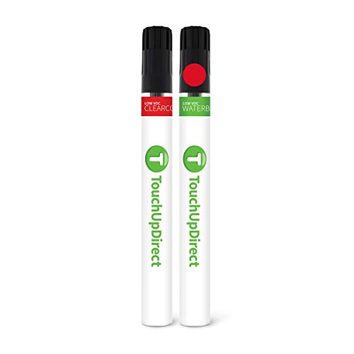 TouchUpDirect PQ Race Red Compatible with Ford Exact Match Touch Up Paint Brush...