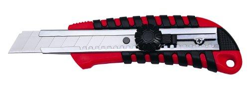 Wedo 785018 Profi-Cutter Standard (Klingenführung, aus Metall, 18 mm) rot/schwarz