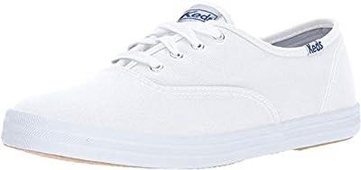 Keds Women's Champion Original Canvas Sneaker,White Canvas, 7 M US