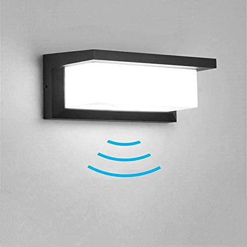Außenleuchte mit Bewegungsmelder, 18W LED Wandleuchte Bewegungsmelder Aussen Wandlampe Innen Wandbeleuchte Wasserdichte IP65 Wandbeleuchtung für Garten Flur Weg Veranda Schlafzimmer Treppenhaus
