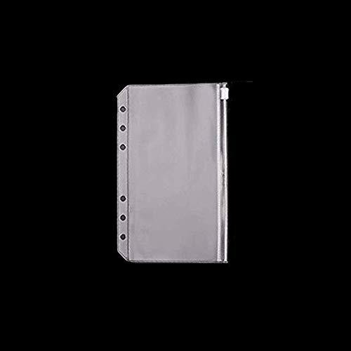 RAYNAG リフィル用 透明ポケット クリアポケット 6穴 ファイルバッグ ルーズリーフノート用 収納ケース 整理 A6 5枚