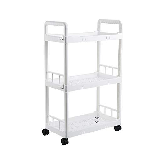 Yxx max -nisrek keukenrek, beweegbare multifunctionele staande kleine wagen, woonkamer, slaapkamer, badkamer, 3-laags rek