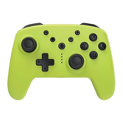CHANGTRANSLATION Controlador inalámbrico Bluetooth con Auriculares Controlador de Juego inalámbrico con somatosensorios Asa cómoda y Hermosa (Color : Yellow)