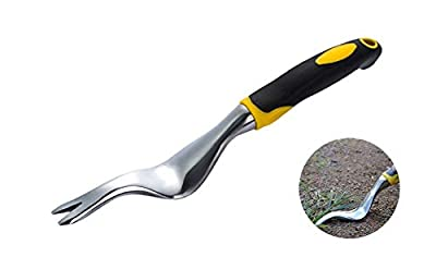 Comfortable Hand Weeder Tool, Manual Root Lifter Weeder with Ergonomic Handle, Weeds Remover Garden Lawn Farmland Transplant Gardening Bonsai Tools