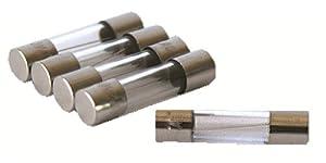 ACAMPTAR 10 pcs Fusibles en tube de verre a soufflage rapide 6x30mm 250V 5A