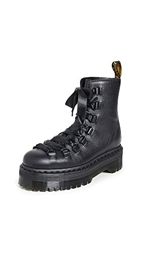 Dr. Martens Women's Quad Retro Trevonna Pisa/Smooth Leather Boot Black Size 4