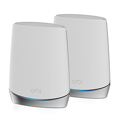 NETGEAR Système WiFi 6 Mesh Tri Bandes Orbi (RBK752), Pack de 2,...