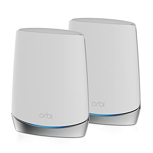NETGEAR Système WiFi 6 Mesh Tri Bandes Orbi (RBK752), Pack de 2, Routeur WiFi 6 AX4200, WiFi jusqu'à 4.2 Gbit/s,...
