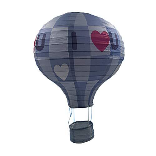 Tmacok Heißluftballon Papierlaterne Party für Geburtstag, Hochzeiten, Jubiläen und Feiern Dekoration, Nero-10 Pollice, 25 cm
