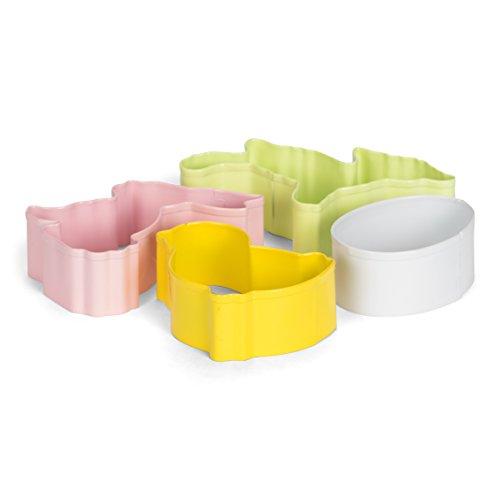 patisse Emporte-Pièces Pâques Set, en Acier Inoxydable, Argent, 10 x 10 x 10 cm, 4 unités de