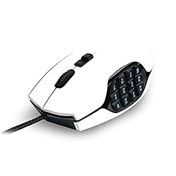 MightySkins Skin Compatible with Logitech G600 MMO Gaming Mouse - Solid White   Protective Durable and Unique Vinyl Decal wrap Cover   Easy to Apply Remove and Change Styles   Made in The USA
