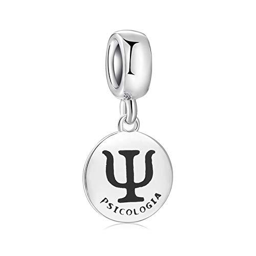 DFHTR Charms Für Frauen Psychologie Anhänger Perlen 925 Sterling Silber Charms Für Schmuckherstellung Fit Original Charm Armbänder
