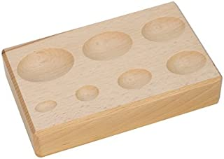 Hardwood Forming Block, Oval Depressions, 6-1/4 by 4 by 1-1/4 Inches   DAP-157.00