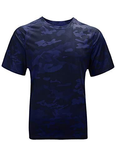 SwissWell Herren Sport T-Shirt Kurzarm Trikot Schnell-Trocken Slim Fit Quick-Dry Hemd Muskel Gym Fitness Training Tee-Shirts
