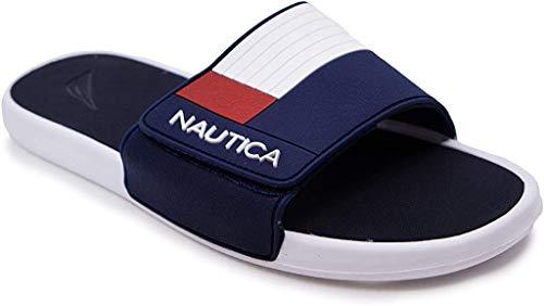 Nautica - Sandalias deportivas para hombre con correas ajustables, azul (Marina Benton), 43 EU