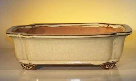 Bonsai Boy's Beige Ceramic Bonsai Pot - Rectangle 12 0 x 9 5 x 3 375
