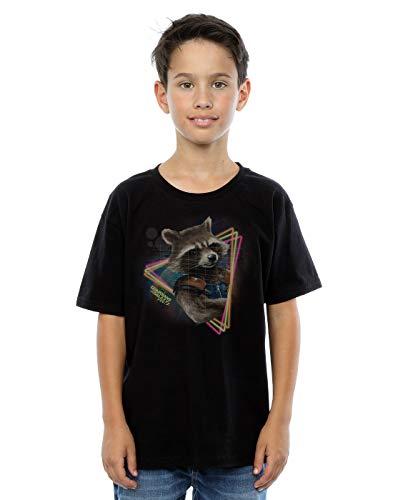 Marvel Jungen Guardians of the Galaxy Neon Rocket T-Shirt 9-11 Years Schwarz