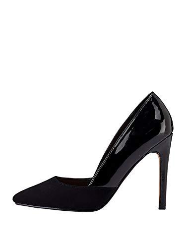 Marypaz, Zapato de salón con tacón de Aguja Combinado para Mujer Negro...