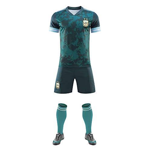 WusaiB Kits de Camiseta de fútbol Personalizados 2020-2021 (Local y visitante) Pantalones Cortos de Camiseta con Nombre y número Personalizados para Adultos, jóvenes, niños