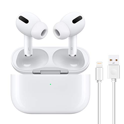 Wireless Earbuds Bluetooth 5.0 Headphones with Charging Case Noise Cancelling 3D Stereo Headphones Built in Mic in Ear Ear Buds Pop-ups Auto Pairing A