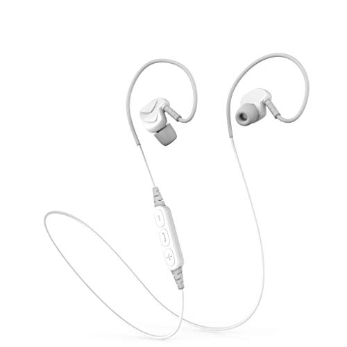 OPAKY Auriculares Bluetooth 4.1 Subwoofer Inalámbricos Deportivos con Función Anti Sueño para iPhone, iPad, Samsung, Huawei, Tablet