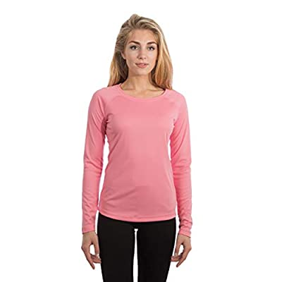 Vapor Apparel Women's UPF 50+ UV Sun Protection Long Sleeve Performance Slim Fit T-Shirt for Sports and Outdoor Lifestyle, Medium, Pretty Pink