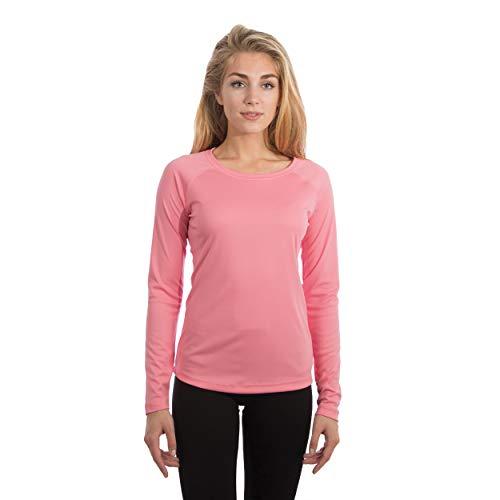 Vapor Apparel Damen Atmungsaktives UPF 50+ UV Sonnenschutz Langarm Funktions T-Shirt M Pink