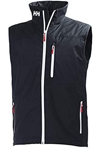 Helly Hansen Crew Vest Chaleco Forro Polar Interior para Hombres, Impermeable y diseñado para Cualquier Actividad Casual o Deportiva, Azul Marino, XL