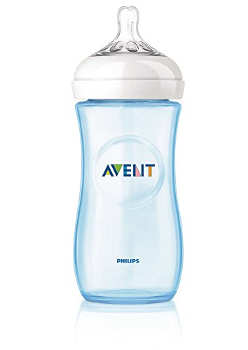 Philips Avent SCF038/17 Biberon Natural Anticoliche per Allattare in Modo Naturale, 330 ml, Azzurro