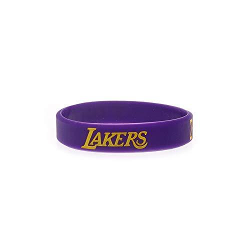 Xlin Mamba Lakers 24 Anniversary Edition Signature Edition Bryant NBA Sport da Ring Braccialetto Mano Gli Appassionati di Basket in Silicone (Color : Purple)