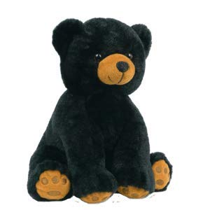 BEARegards Comfort Bears Personalized Long Message Recordable 15 Inch Talking Black Teddy Bear w/ 60 Seconds of Recording Time.