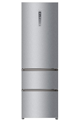 Haier A3FE735CMJ Kühl-Gefrier-Kombination/A++ / 190.0 cm Höhe / 265 kWh/Jahr / 233 L Kühlteil / 97 L Gefrierteil/Innovative Gefrierschubladen/edelstahllook