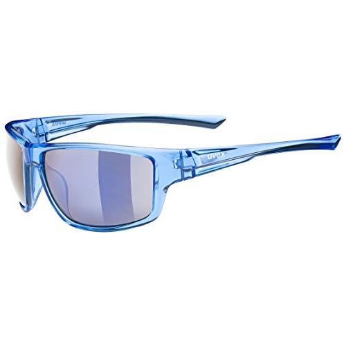 uvex Unisex– Erwachsene, sportstyle 230 Sportbrille, clear blue/mirror blue, one size