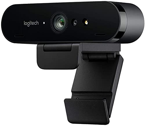 Logitech BRIO Ultra HD Webcam for Video Conferencing Recording and Streaming (Black) (Renewed)