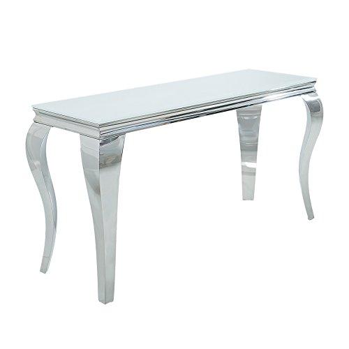 Invicta Interior Konsolentisch MODERN BAROCK 140cm weiß Opalglas Beistelltisch Tisch Konsole