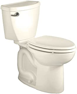 American Standard Cadet 3 Right Height Elongated Flowise Two-Piece High Efficiency Toilet with 12-Inch Rough-In, Linen Linen