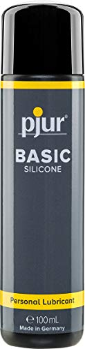 pjur BASIC SILICONE - Silikon-Gleitgel ideal für Einsteiger - kondomgeeignet und nicht klebend - für Männer & Frauen (100ml)