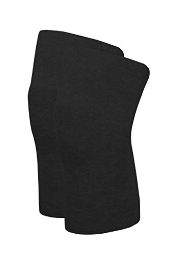 Angora Kniewärmer von wobera, schwere Ausführung 50% Angora (Gr. L, Farbe: schwarz)