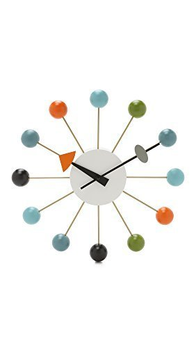 George Nelson Ball Clock - Multi-coloured by Vitra