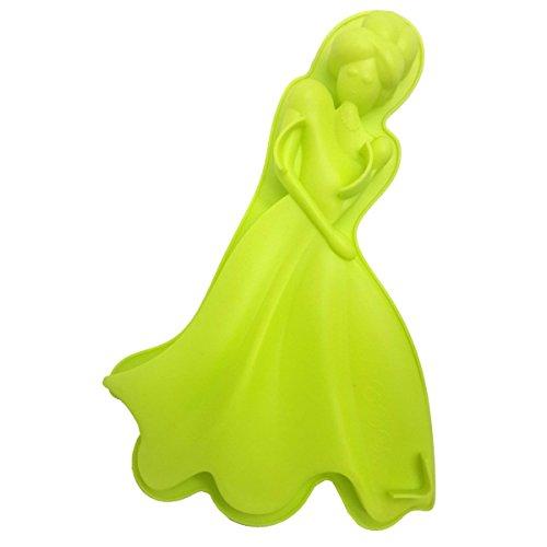 Forma de Silicone Para Doces Torta Pudim Bolo Cozinha Princesa Verde (sili-9)