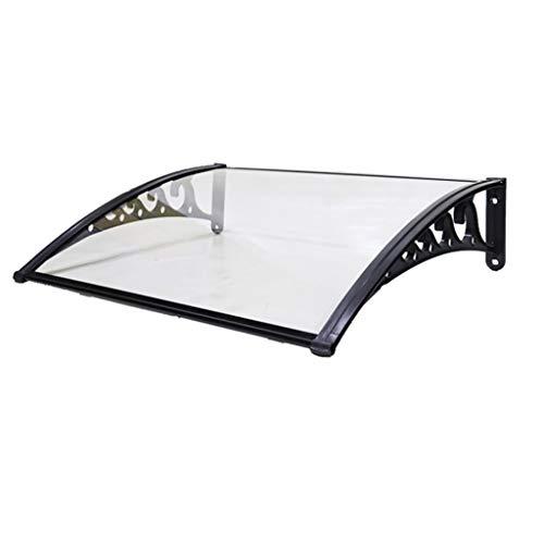 Lw Canopies huisdeurluifel transparante deurluifel luifel deurdak lessenaarsluifel overkapping polycarbonaat 60×120cm