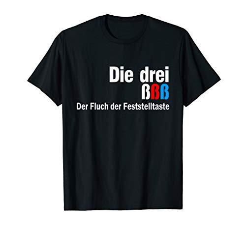 Die drei ßßß - Der Fluch der Feststelltaste - 3 Detektive T-Shirt