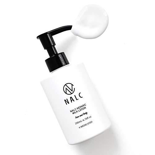 乳液 NALC ヘパリン レディース メンズ (ヘパリン類似物質 配合) (顔 & 全身 に使える ボディローション オススメ) 薬用 ミルクローション 200mL ボディクリーム ハンドクリーム ボディミルク ポンプ式 ニキビ を防ぐ