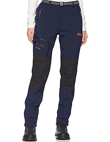 DAFENP Pantalones Trekking Mujer Impermeable Pantalones de Escalada Senderismo Alpinismo Ligero Secado Rápido Transpirable Aire Libre KZ1816W-Blue-L